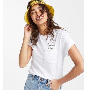 Ripndip Lord Nermal Pocket Cat Graphic T-Shirt